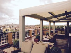 Roof deck at Portrait Suites, Roma